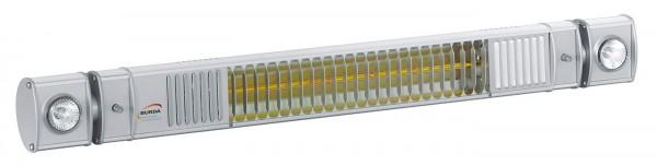 Infrarotstrahler mit Kühlungsdüsen und schwenkbaren Halogenlampen