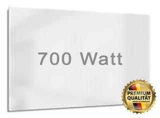 Infrarotheizung mit 700 Watt Leistung. Ideal für Räume von bis zu 18 m²