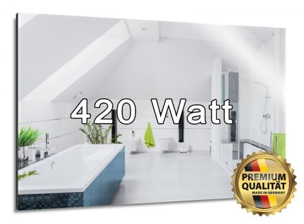 Schön praktisch -  die 420 Watt Spiegelheizung