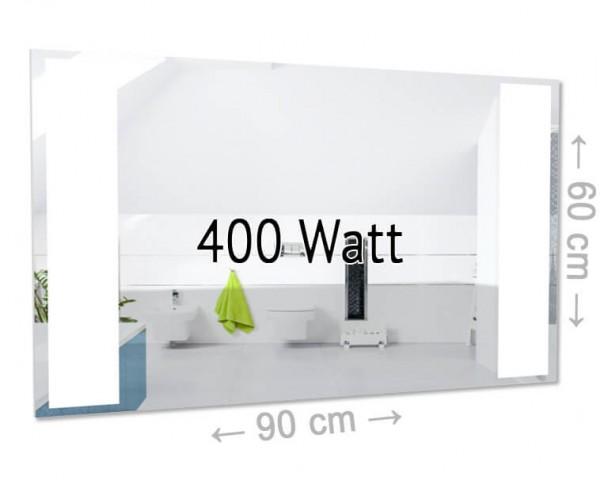 led spiegel infrarotheizung 400 watt ohne rahmen effektiv g nstig und modern heizen. Black Bedroom Furniture Sets. Home Design Ideas