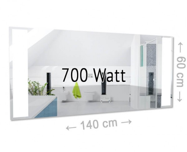 Einfach gut und sehr praktisch, dazu noch ein elegantes Design. Diese Infrarotheizung ist ein Spiegel mit LED-Beleuchtung. Ideal fürs Bad, die Sauna etc.