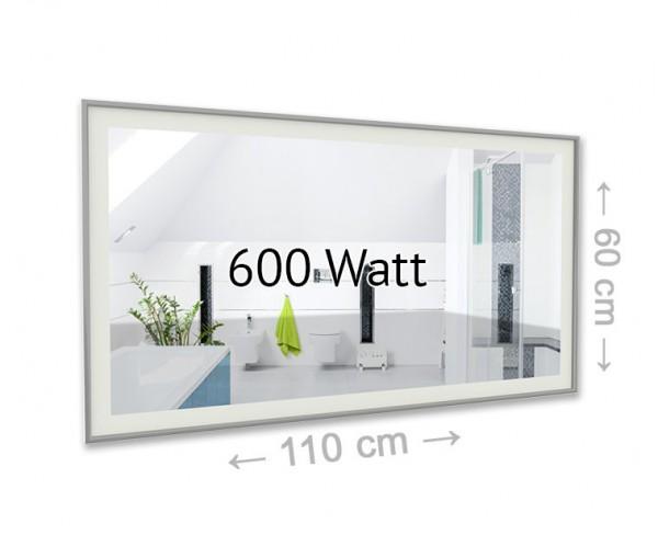 3:1 - Infrarotheizung + Spiegel + Lichtquelle. Diese Spiegelheizung ist nicht nur unauffällig und effektiv, sondern auch sehr praktisch.