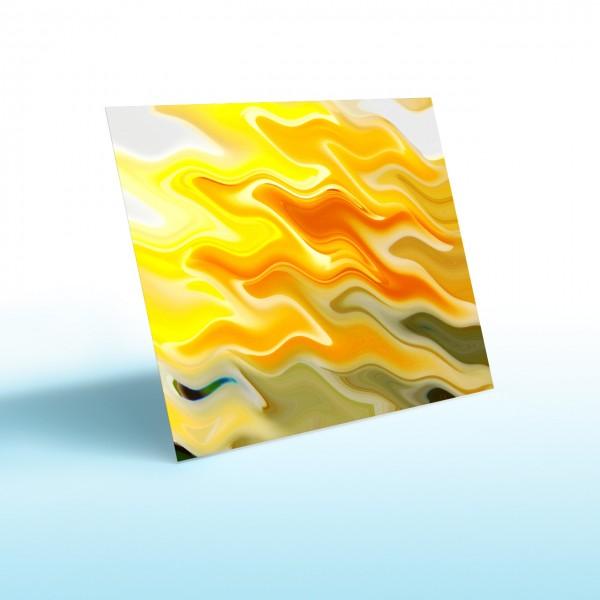 Rahmenlose Infrarotheizung mit Beispielmotiv als Glasbildheizung von Knebel