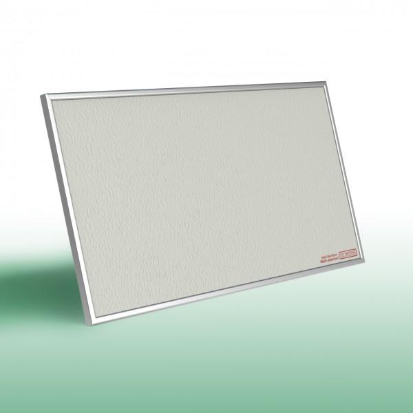 Infrarotheizung PowerSun Reflex mit Alurahmen und mineralisierter, weißer Oberfläche