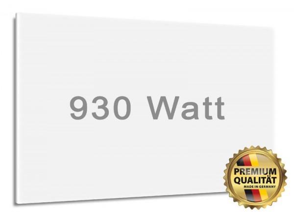 Matt-weiße, rahmenlose Digel-Heat Heizung mit 930 Watt Leistung