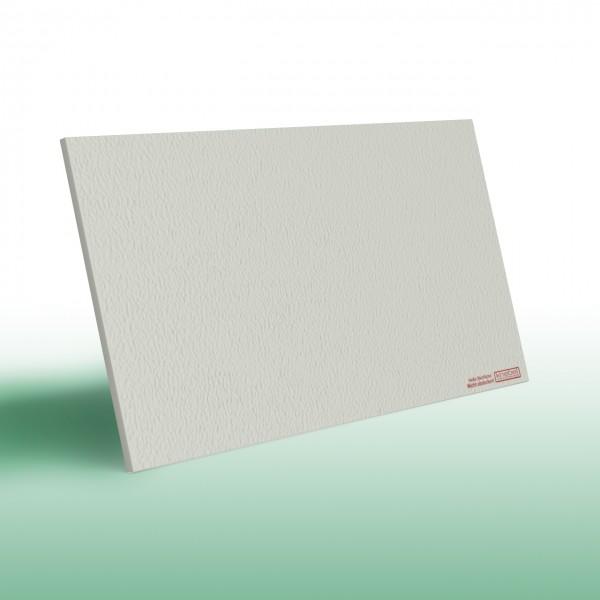 Infrarotheizung PowerSun Reflex in weiß und mit einer mineralisierten und überstreichbaren Oberfläche