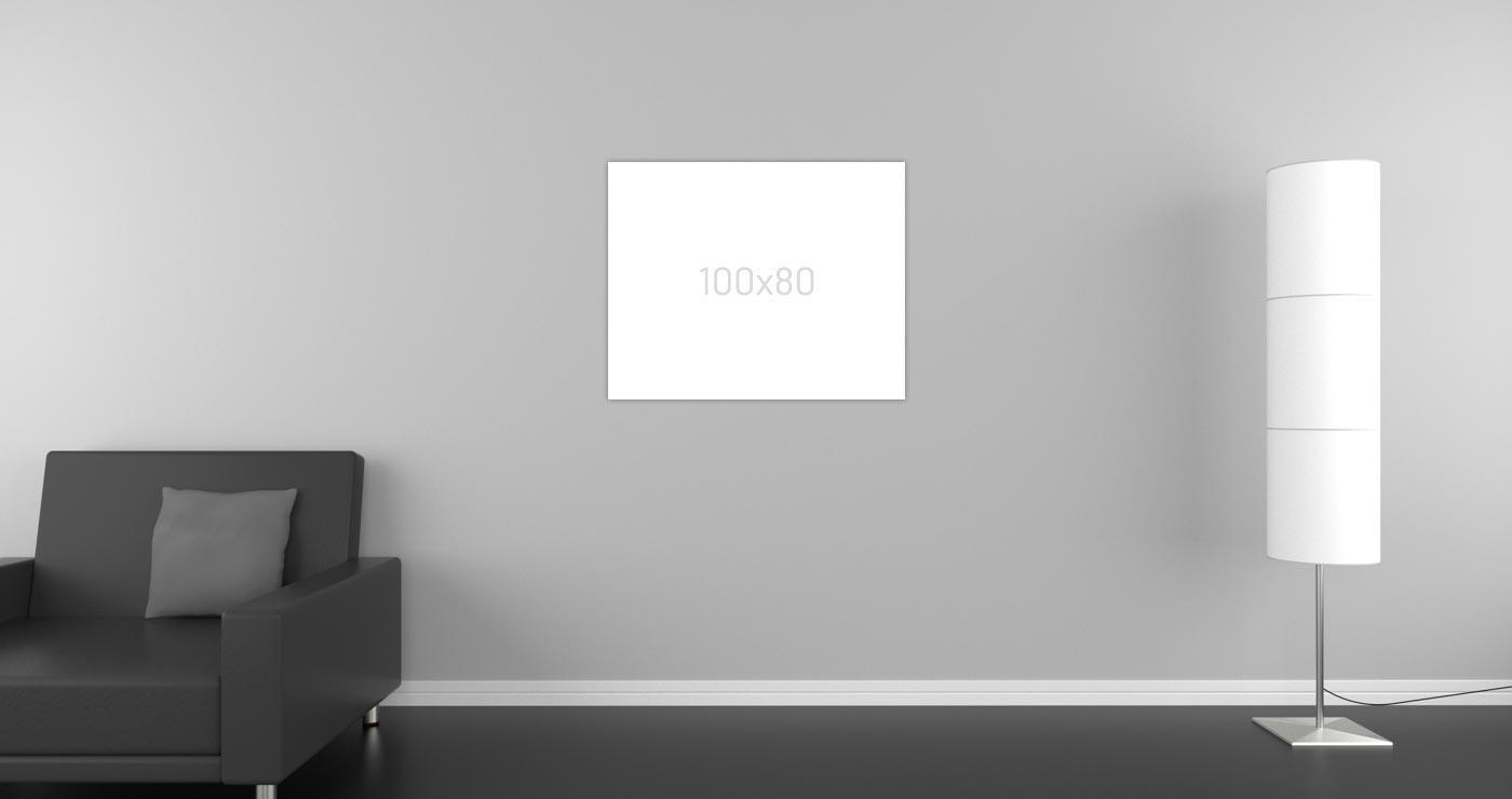 Infrarotheizung-Glasheizung in der Größe 100 x 80 cm