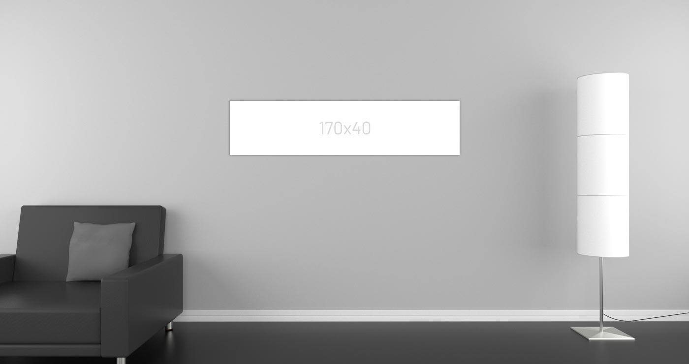 Infrarrotheizung 170 x 40 cm für 12 bis 20 m²