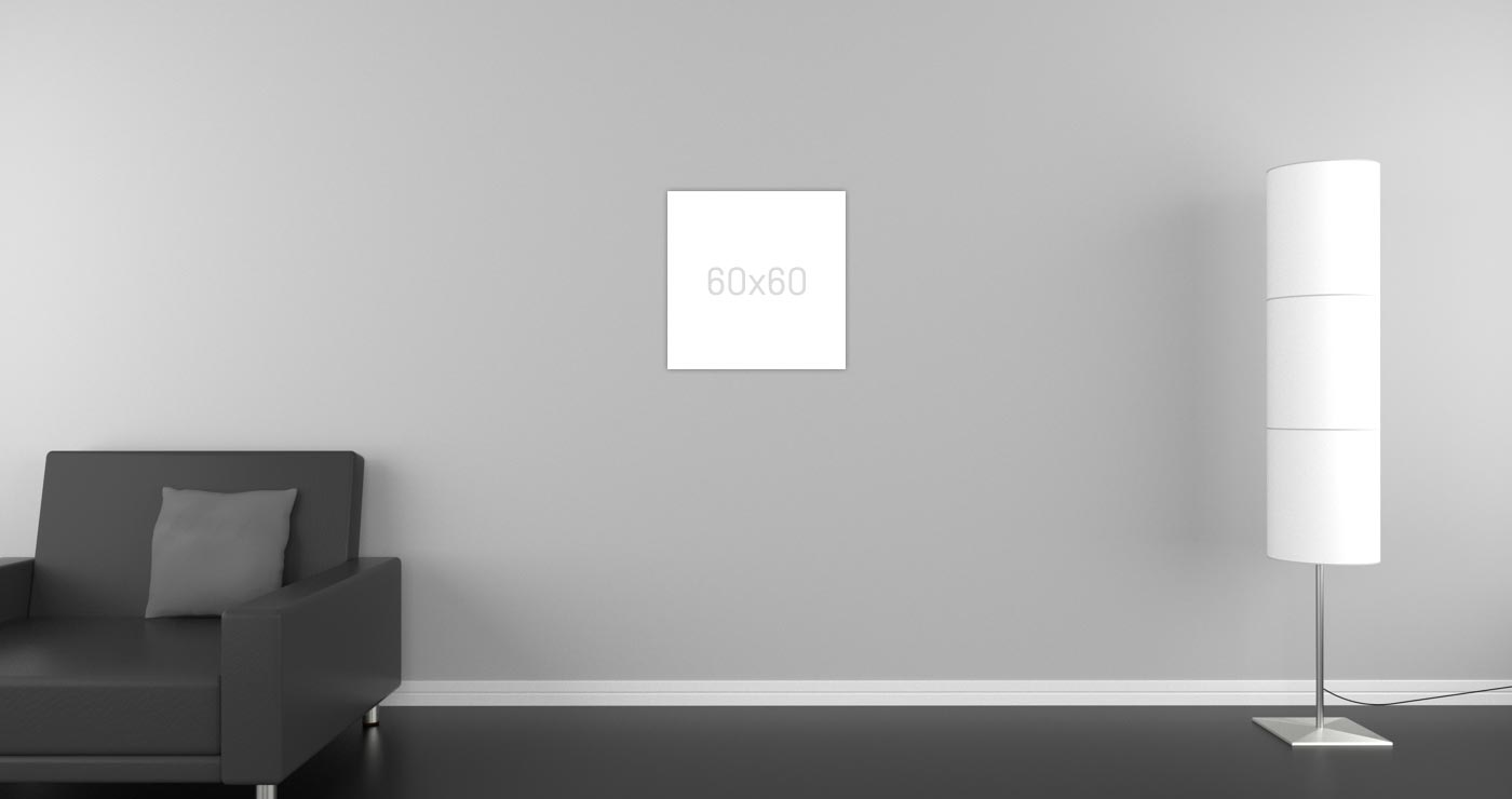Klassik Infrarotheizung in matt weiß mit 420 Watt für Räume von 6 - 11 m²