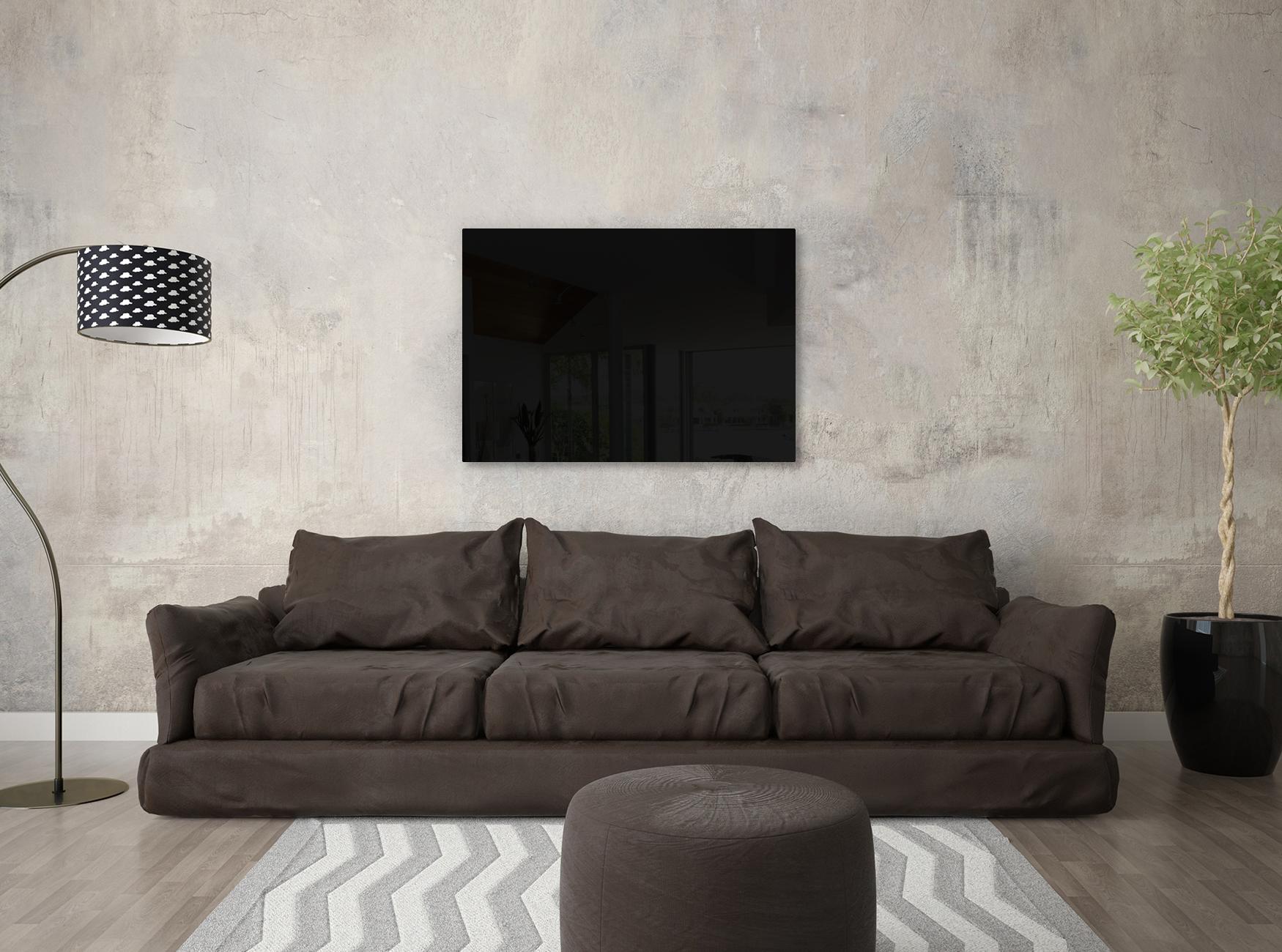 Infrarotheizung mit Carboglas im Wohnzimmer, 800 Watt 60x140cm