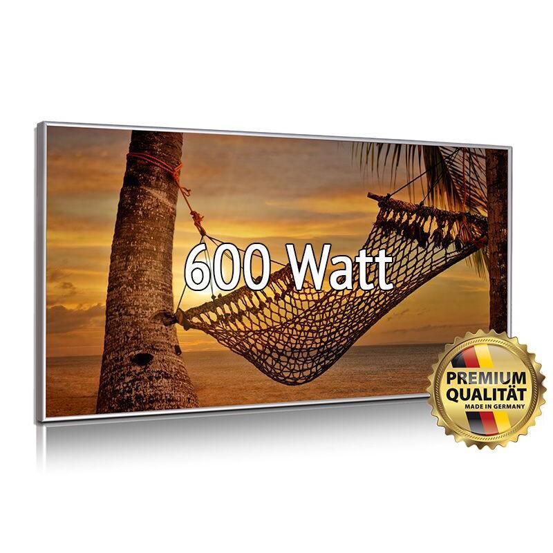 Glasbildheizung Nomix-Dekor 600 Watt Alurahmen