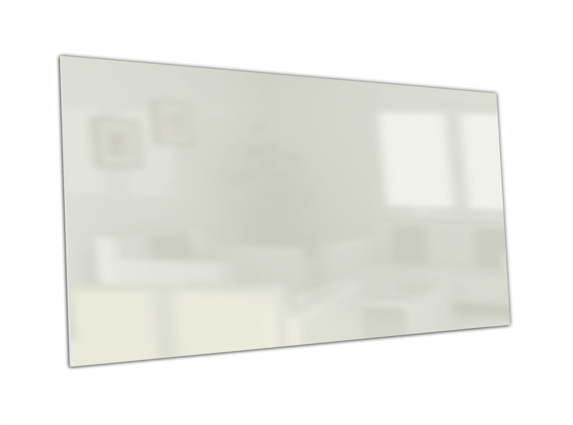 Infrarot Glasheizung ohne Außenrahmen, weiß, Seitenansicht