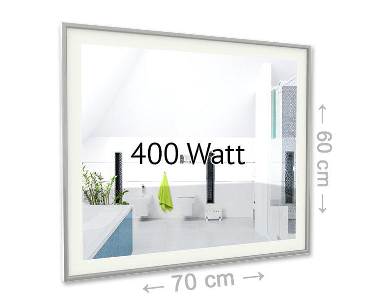 led spiegel infrarotheizung 400 watt effektiv g nstig und modern heizen. Black Bedroom Furniture Sets. Home Design Ideas