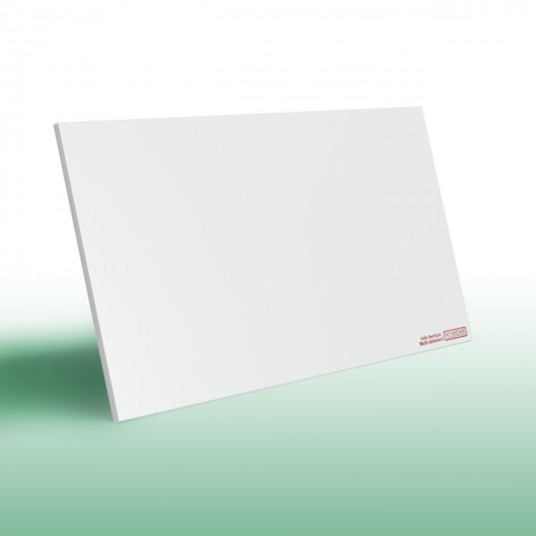 Infrarotheizung ohne Rahmen und mit weißer, glatter Oberfläche | Rückseite