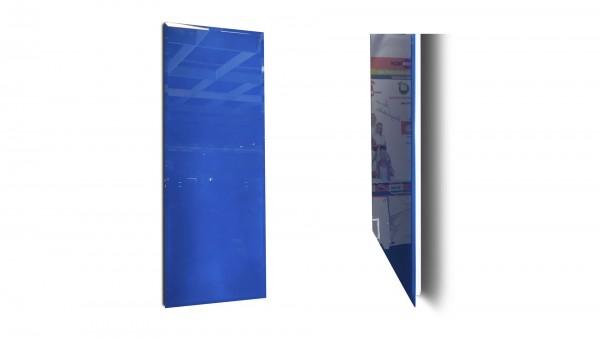 Infrarotheizung mit einer glänzenden Glasoberfläche. Die RAL-Farben sind frei von Blei oder Schwermetallen.