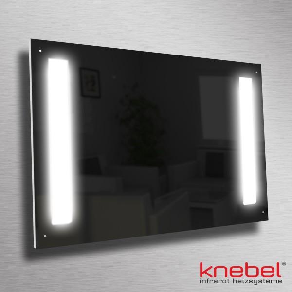 Sieht elegant und edel aus, spart Energie, gibt wohlige Wärme und leuchtstarkes Licht ab - die Infrarotheizung aus Carboglas mit LED-Beleuchtung