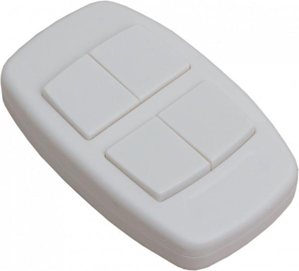 4-Wege Handsender in der Farbe weiß