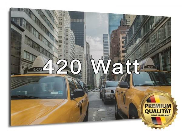 Eine Bildheizung als effektive Infrarotheizung mit 420 Watt