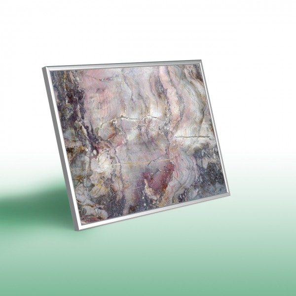 Glas-Bildheizung Nomix Dekor - Infrarotheizung als Wandheizung mit Rahmen (Beispielmotiv)