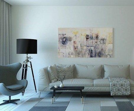 Infrarot-Bildheizung-Wohnzimmer