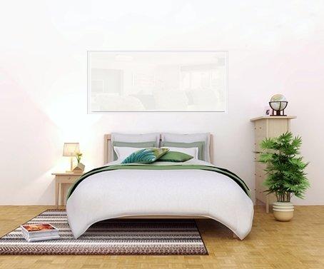 Infrarot-Glasheizung-Schlazimmer