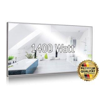 Spiegelheizung Nomix - 1400 Watt | 80x200cm | Infrarotheizung mit Alurahmen