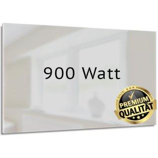 Glasheizung Nomix White - 900 Watt | 60x140cm | Infrarotheizung ohne Rahmen