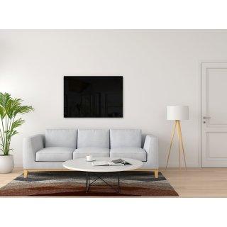 Glasheizung Nomix Black - 250 Watt   35x90cm   Infrarotheizung ohne Rahmen