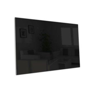 Glasheizung Nomix Black - 500 Watt | 40x130cm | Infrarotheizung ohne Rahmen
