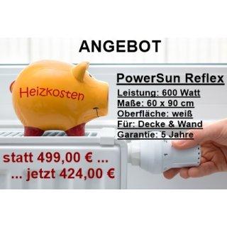 ANGEBOT: Infrarotheizung PowerSun Reflex - 600 Watt | 60x90cm