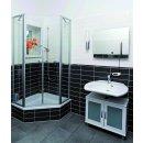 Spiegelheizung Nomix - 400 Watt | 60x70cm | Infrarotheizung mit Alurahmen