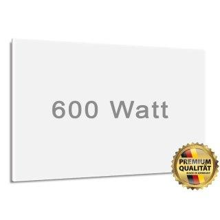 Infrarotheizung 600 Watt - matt/weiss | 60 x 90 cm | 6-14 m²