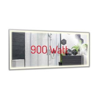 Infrarot Spiegelheizung   900 Watt   60x140cm   LED-Beleuchtung