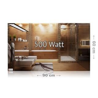 Spiegelheizung Nomix - 500 Watt | 60x90cm | Infrarotheizung mit Alurahmen