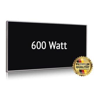 Infrarotheizung Nomix Glas Black - 700 Watt | 60x120cm | Glasheizung mit Rahmen