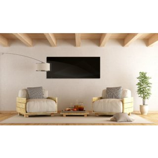 Infrarotheizung Black Glass 900 Watt | 100 x 80 cm | 13-22 m²