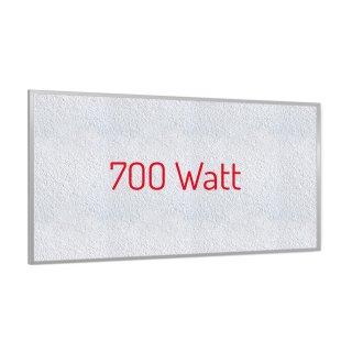 Infrarotheizung PowerSun Reflex - 700 Watt | 60x120cm | Rahmen, weiß, mineralisiert