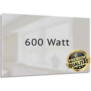 Infrarotheizung Nomix Glas White - 600 Watt | 60x110cm | Glasheizung ohne Rahmen