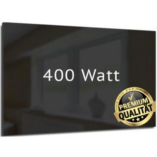 Infrarotheizung Nomix Glas Black - 400 Watt | 60x70cm | Glasheizung ohne Rahmen