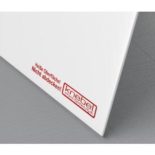 Infrarotheizung PowerSun Reflex - 600 Watt | 50x100 cm | weiß, glatt