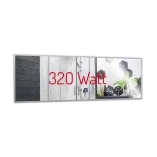 Spiegelheizung Nomix - 320 Watt | 35x120cm | Alurahmen