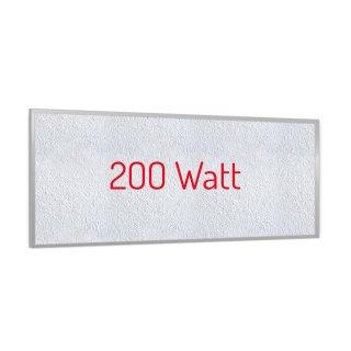 Infrarotheizung PowerSun Reflex - 200 Watt | 24x60cm | Rahmen, weiß, mineralisiert