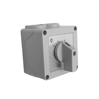 Manueller Schalter S123 für Stufen 1-2-3, 20A, IP42 | Art.11733